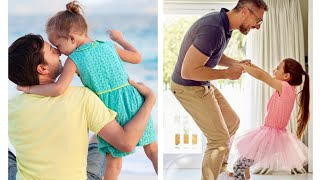 Father And Daughter Cute Photo Pose Idea/cute Photo Pose Father And Daughter Photography
