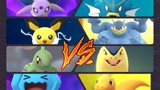 Crobat  - (Pokémon) - Pokémon GO Gym Battles Level 7 & 9 Typhlosion Larvitar Pichu Crobat Bellossom Togepi & more