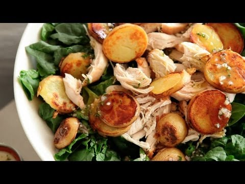 Spinach Salad with Chicken and Crispy Potatoes | Everyday Food with Sarah Carey