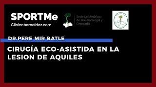 Cirugía Eco-Asistida en las lesiones de Aquiles - Dr.Pere Mir Batle