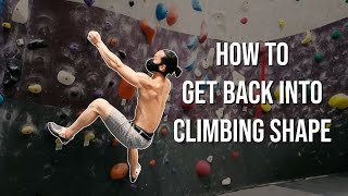 How to Get Back into Climbing Shape - Mini Training Cycle