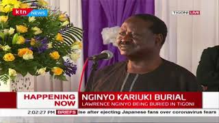 Raila: If you talk about hustler, Nginyo Kariuki is somebody who truly deserves it