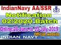 Navy AA/SSR 02/2020 Batch Online Application Dates Officially On Website|Navy AA/SSR Notification