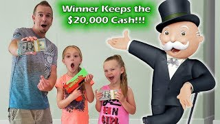 Last to Grab the Cash Wins $20,000!!! Monopoly Money Game in Real Life!