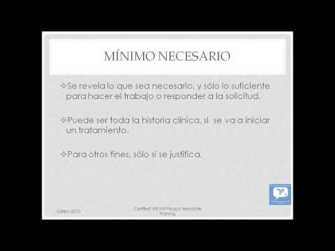 Certified HIPAA Privacy Associate (CHPA) - Spanish - YouTube