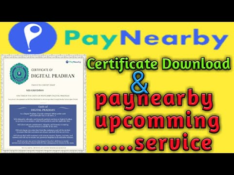 PayNearby   PayNearby BC Certificate Download   PayNearby BC