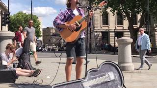 Asaf Avidan, Reckoning Song, One Day (cover) - busking in the streets of London, UK