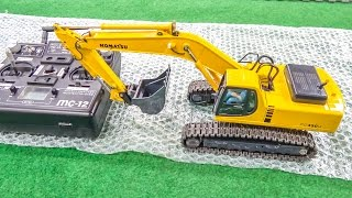 RC excavator gets unboxed and dirty for the first time!