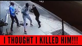 MR. Organik KNOCKS out a ROBBER THEN HELPS HIM Up!!