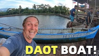 Kumander Daot – WORKING AT HOME IN MY FISH POND – Daot Filipino Boat Problems (Davao, Mindanao)