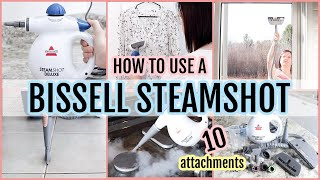 HOW TO USE A BISSELL STEAMSHOT HARD SURFACE HANDHELD STEAM CLEANER | ACCESSORY TOOL DEMONSTRATION