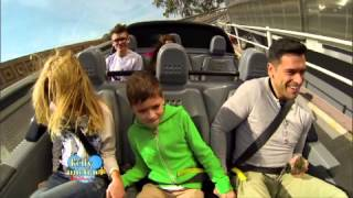 "Kelly Ripa and Family at Disney World Test Track on ""LIVE with Kelly and Michael"""