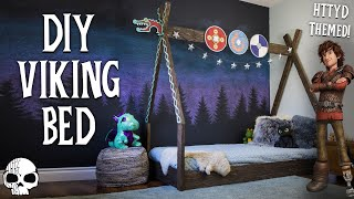How To Make A HTTYD-themed Kids Bed! (DIY Montessori Bed)