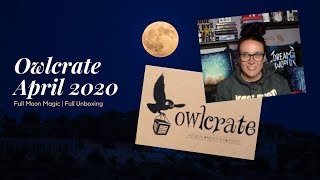 Owlcrate April 2020 | Full Moon Magic | Full Unboxing