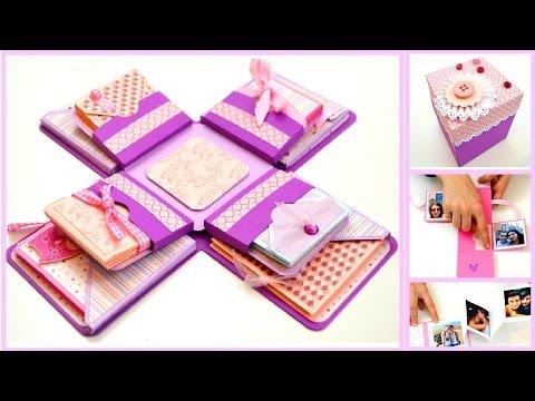 Diy Crafts Explosion Box For Boyfriend Exploding Box Card