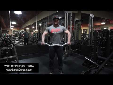 Wide Grip Upright Row