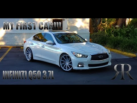 MY FIRST CAR EVER!!! INFINITI Q50 3.7L ON VOSSEN CVT AT 18 YEARS OLD!!