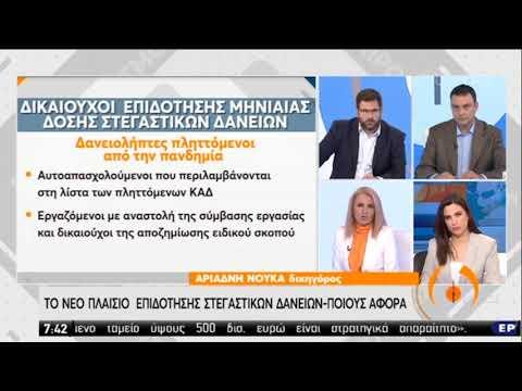 Στεγαστικά δάνεια   Το νέο πλαίσιο επιδότησης   27/05/2020   ΕΡΤ
