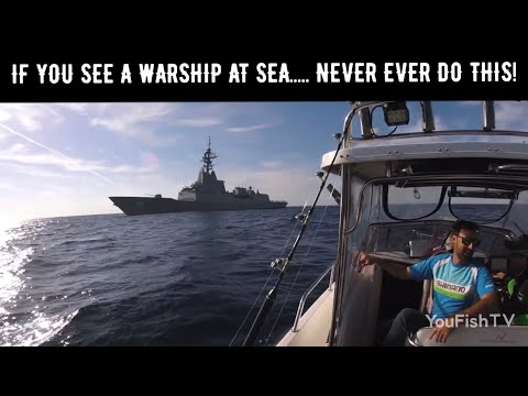 Warship Destroyer Intercepts Fishing Boat - HMAS Hobart