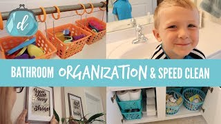 Bathroom Organization & Speed Cleaning 💙 Tips For KIDS BATHROOMS!