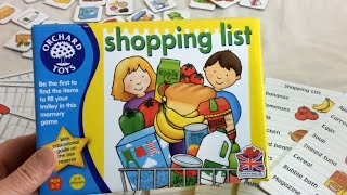 """""""Shopping List"""" to play"""