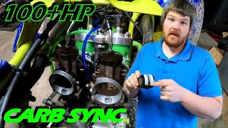 SUPER BANSHEE 2 stroke engine carb sync & test ride!