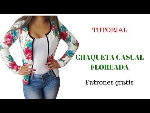 DIY chaqueta casual de flores corte y confección