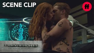 Shadowhunters | Season 2, Episode 19: Jace Pulls Clary in for a Kiss | Freeform