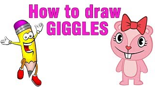 how to draw a chipmunk giggles very simple for kids