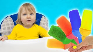 Arthur and Amelia learning colors with fruit Ice Cream