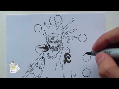 07 Drawing Naruto Sage of Six Paths 六道仙人モード