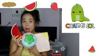 New Big Strawberries, Sliced Bread, and Watermelon Slice Squishy!