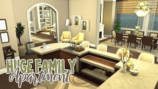 Huge Family Apartment || The Sims 4: Speed Build
