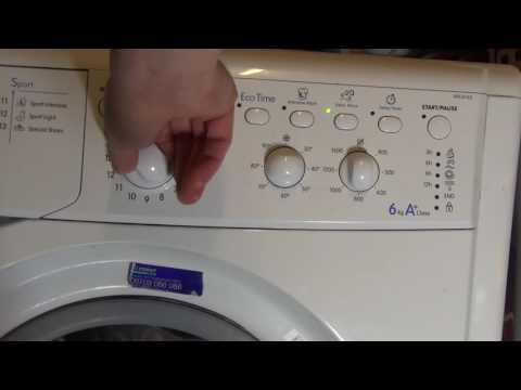 Indesit Start IWC6165 Washing Machine : All programs and options