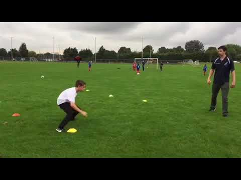 Injury Rehab Session - Late stage rehab with young footballer
