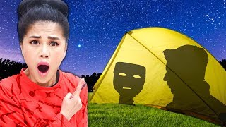 I SPEND 24 HOURS in HACKERS TENT! Surprising My Spy Ninjas with Camping Overnight Challenge