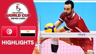 TUNISIA vs. EGYPT - Highlights | Men's Volleyball World Cup 2019