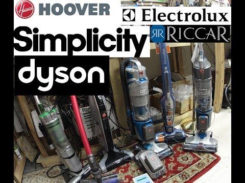 Lithium Ion Cordless vacuum Review Dyson vs  Hoover vs simplicity/Riccar vs Electrolux