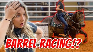 I Tried Barrel Racing For The First Time ON A BARREL HORSE!