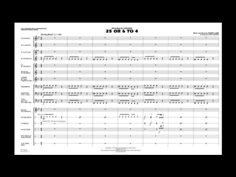 25 Or 6 To 4 By Robert Lamm/arr. Paul Murtha