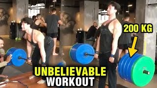 Tiger Shroff UNBELIEVABLE Workout, Lifts 200 kgs in Unseen VIDEO!