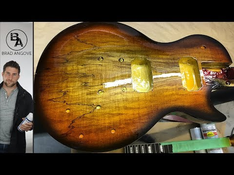 Darrell Braun's AWESOME Spalted Maple Les Paul Guitar Kit (the paint job)