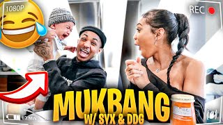 BABY FOOD MUKBANG WITH DDG! SYX WASN'T HAVING IT!