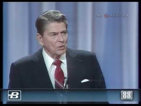 США. Новый Орлеан. Съезд  республиканской партии. Рональд Рейган 16.08.1988