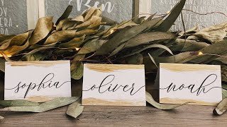 DIY Place Cards Custom Cards for Cricut Wedding | How to Add Tails to Fonts