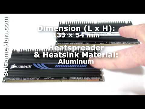 #1116 – Corsair Dominator PC3-12800 DDR3 Dual Channel 4GB Memory Video Review