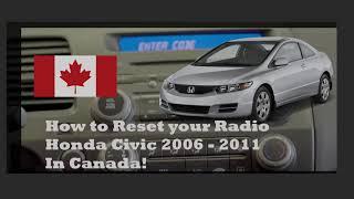 Radio Reset – 2006- 2011 Honda Civic (In Canada)