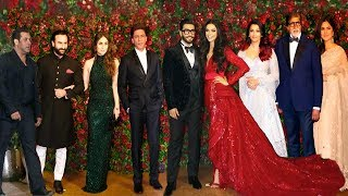 Ranveer Deepika Wedding Reception FULL HD Video | Shahrukh,Salman,Bachchan,Katrina,Kareena,Aish,Saif