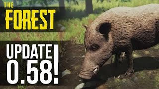 UPDATE v0.58! Servers Coming, Stealth, Building UI, Boar Texture! The Forest