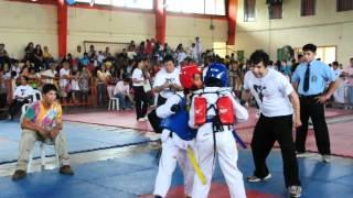 preview picture of video 'Taekwando (Monique Mervi Mendoza) yellow belt vs. blue belt final set.AVI'